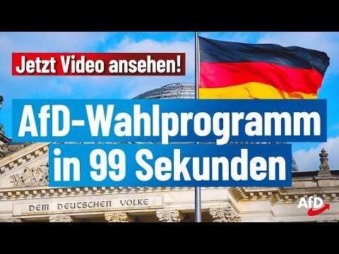 Das AfD-Programm zur Bundestagswahl 2021!
