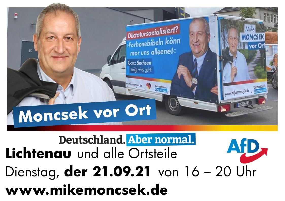 Mike Moncsek auf Wochenmärkten in der Woche vor der Wahl
