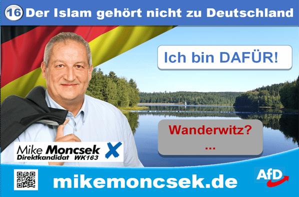 Der Islam (ist Scharia und) gehört nicht zu Deutschland
